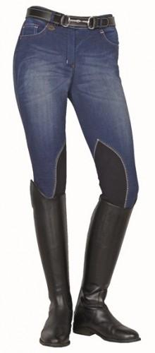 Pantalon SUMMER DENIM HKM - Pantalons d'équitation à basanes