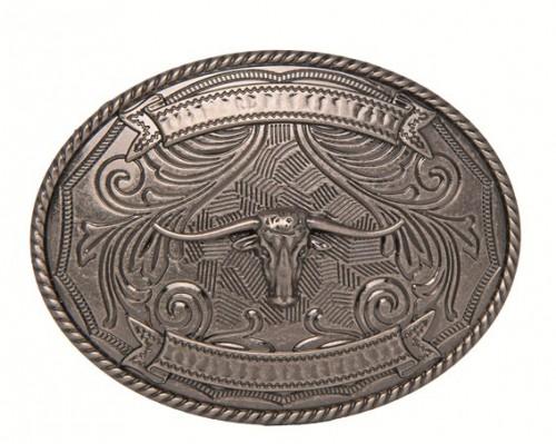 Boucle de ceinture Texas Longhorn HKM - Destockage accessoires d'équitation