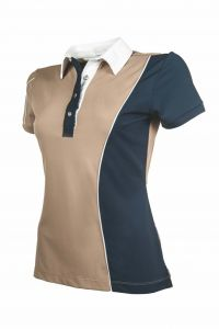 Polo Dames SEASIDE, Sable/Marine