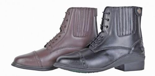 Boots lacets & zip Noir PROFI - Boots d'équitation