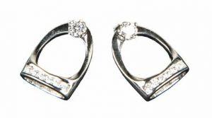 Boucles d'oreilles en argent STEIGBUGEL crystal