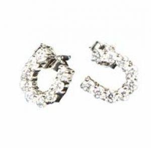 Boucles d'oreilles en argent HUFEISEN crystal