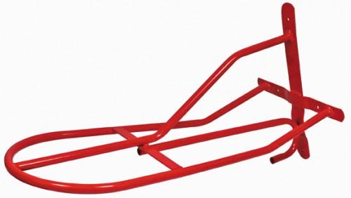 Porte Selle en métal gainé rouge - Materiel d'écurie