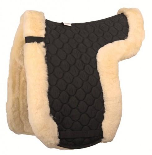 Tapis de selle dressage HKM en mouton véritable - Tapis de selle