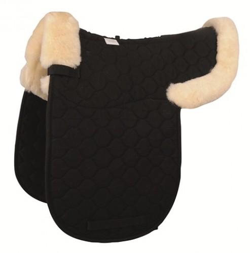 Tapis de selle dressage HKM avec amortisseur mouton - Tapis de selle