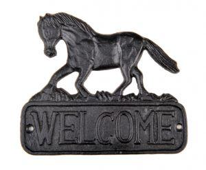 Panneau en fer de fonte -Welcome-