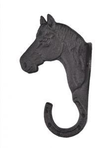 Porte Bridon style Tête de cheval en fer forgé