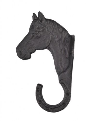 Porte Bridon style Tête de cheval en fer forgé - Materiel d'écurie