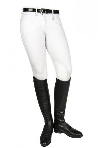 Pantalon 11/12 ans LOW RISE - Pantalons d'équitation à basanes enfant