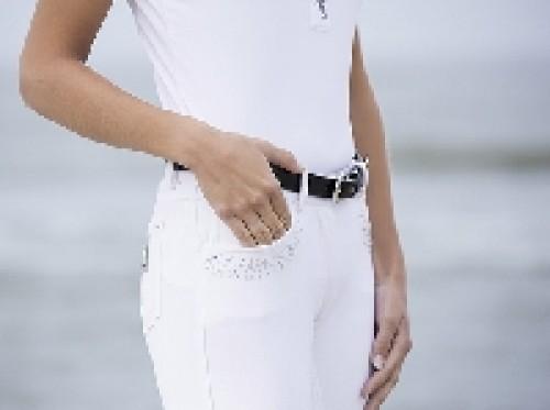 Pantalon 40 Seaside Crystal - Pantalons d'équitation à basanes