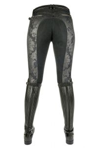 Pantalon Denim BLACK FLOWER fond peau