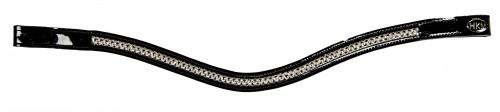 Frontal cristaux Blancs/noirs - Frontaux pour briderie