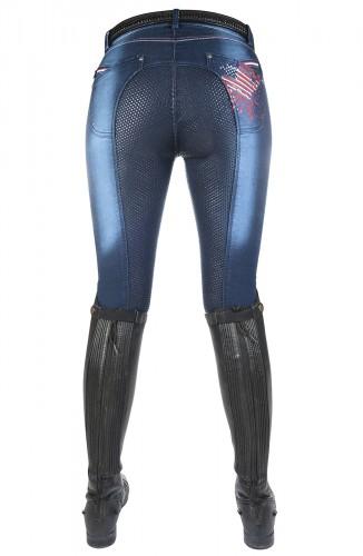 Pantalon Junior DENIM USA - Pantalons d'équitation à basanes enfant