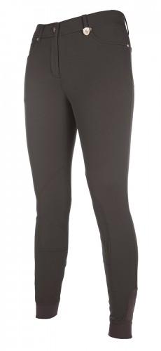 Pantalon LG BASIC basanes tissu - Pantalons d'équitation à basanes