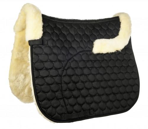Tapis en mouton véritable, en forme de croissant - Tapis de selle