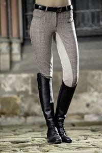 Pantalon SIENA Check fond peau