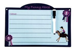 Plaque d'écurie FUNNY HORSES