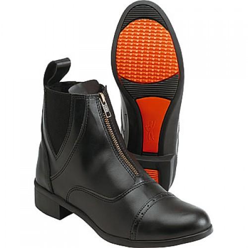 Boots EQUI-THEME ZIP synthétique, marron - Bottes & boots d'équitation enfant
