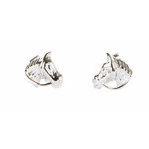 Boucles d'oreilles en argent, Tête de Cheval