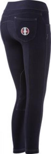 Pantalon Juniors Equi-Thème PULL-ON - Pantalons d'équitation à basanes enfant