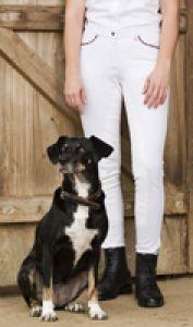 "Pantalon ""Classic stripes"" fond peau"