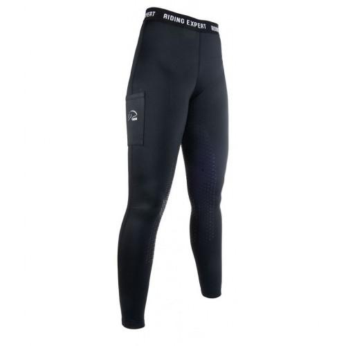Leggings Junior Hiver GRAZ Style, fond silicone - Pantalons d'équitation d'hiver enfant