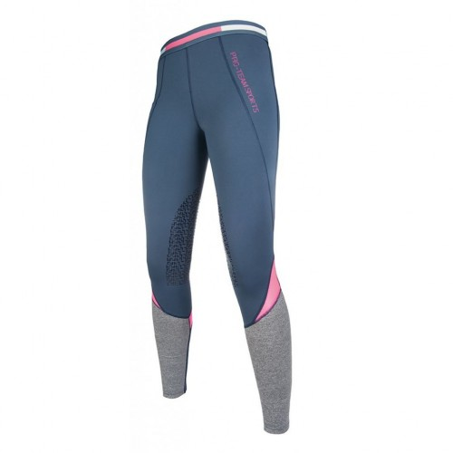 Leggings junior ACTIVE 19 Silikon - Pantalons d'équitation à basanes enfant