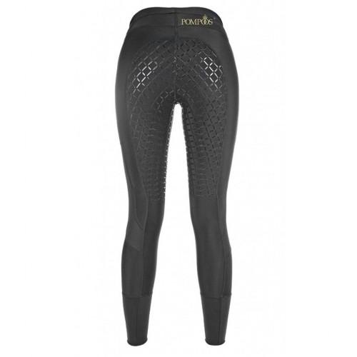 Leggings Mesh Pompoos fond silicone - Pantalons d'équitation à fond intégral