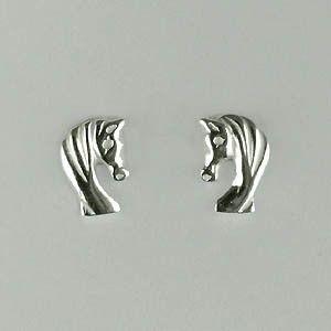 """Boucles d'oreilles en argent """"tête de cheval"""""""