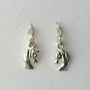 """boucles d'oreilles en argent brisures """"tête de cheval"""""""