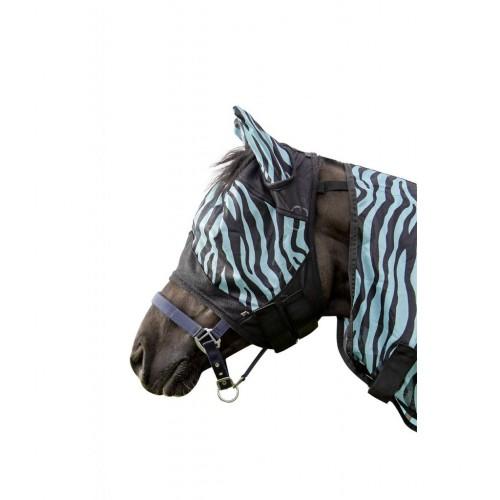 Masque anti-mouches Zebra Aqua - Masque et frontal anti-mouches