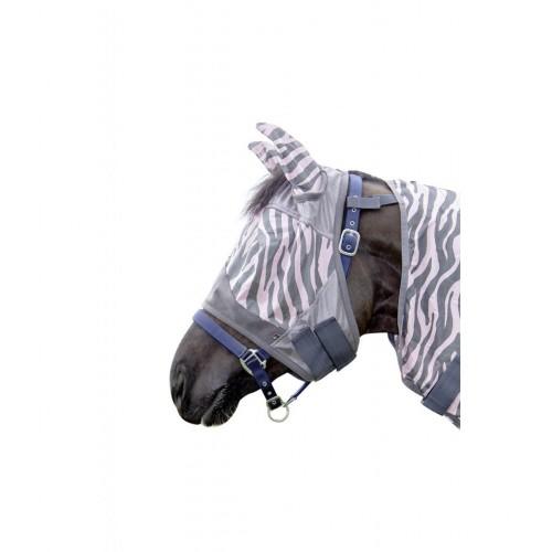 Masque anti-mouches Zebra Rose - Masque et frontal anti-mouches