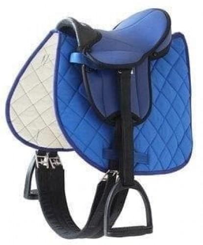 PACK Selle Bardette Bleu SHETTY BEGINNER - Selles Junior/Bardette