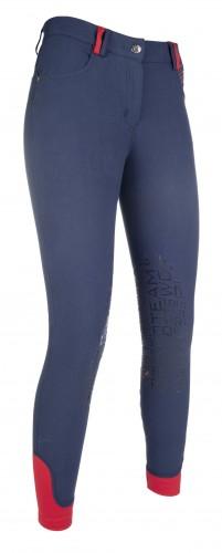 Pantalon Junior COUNTY PRINT Silicone - Pantalons d'équitation à basanes enfant