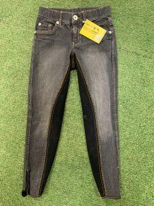Pantalon 8/9 ans Denim Noir
