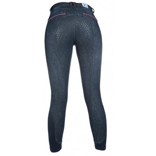 Pantalon DENIM ACTIVE 19 Silikon - Pantalons d'équitation à fond intégral