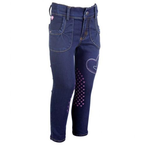 Pantalon en jean BELLAMONTE - Pantalons d'équitation à basanes enfant