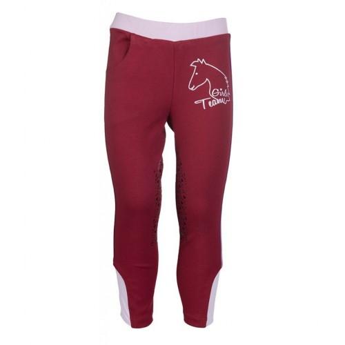 Leggings equitation PICCOLA - Pantalons d'équitation à basanes enfant