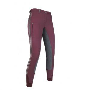 Pantalon 34 fond peau VELLUTO Stripe EVA