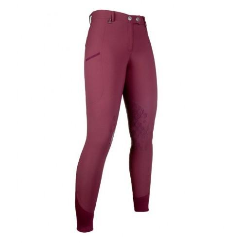 Pantalon équitation MORELLO PAM basanes silicone - Pantalons d'équitation à basanes