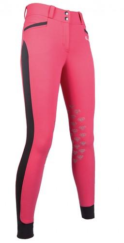 Pantalon Diamonds EVA Pink Star Silikon - Pantalons d'équitation à basanes