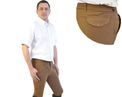 """Pantalon """"Vendôme"""", blanc - Pantalons d'équitation homme"""