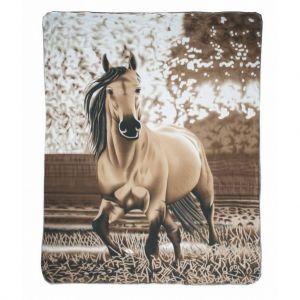 Plaid polaire chevaux