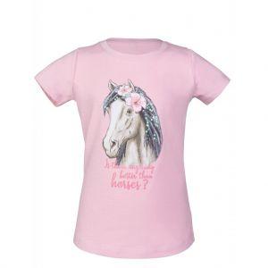 T-Shirt équitation Soft Pink Horse