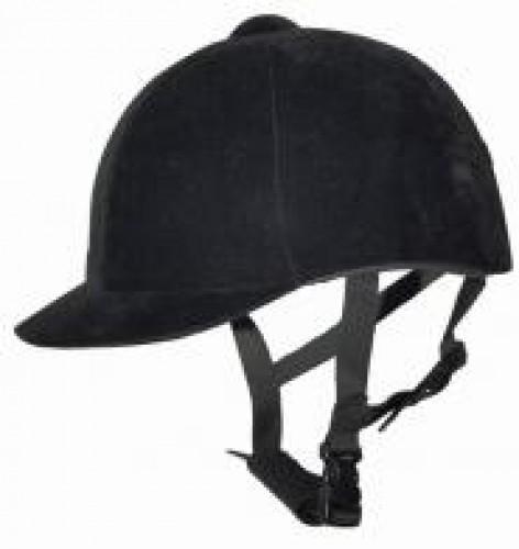Casque velours noir - Casques d'équitation